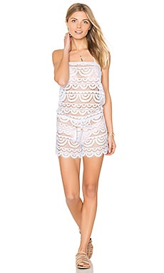 Marisa Lace Romper in Water Lily