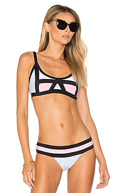 Colorblock Halter Top