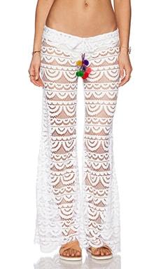 PILYQ Malibu Lace Pant in White