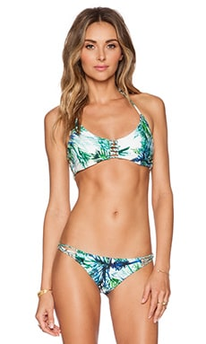 PILYQ Zen Braided Bikini Top in Palms