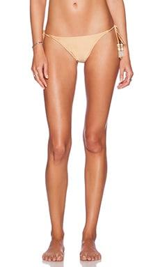 PILYQ Tie Bikini Bottom in Gold