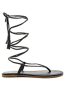 PILYQ Gladiator Sandal in Black Gold