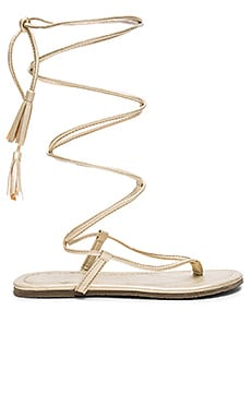 Gladiator Sandals in Gold