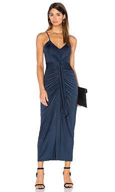 Cascade Maxi Dress in Navy