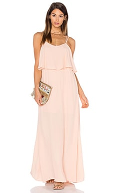 Pink Stitch Alexa Maxi Dress in Blush
