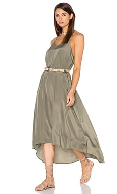 Pink Stitch Willow Maxi Dress in Khaki