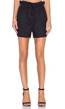 Pink Stitch Julia Shorts in Black