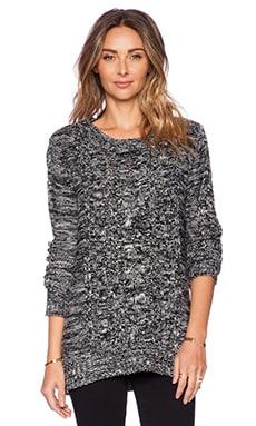 Pink Stitch Zero Sweater in Black & White