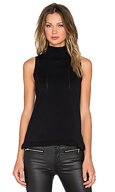 Pink Stitch Marly Top in Black