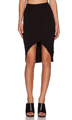 Pink Stitch Adella Skirt in Black