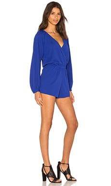Pink Stitch Take Me Down Romper in Cobalt