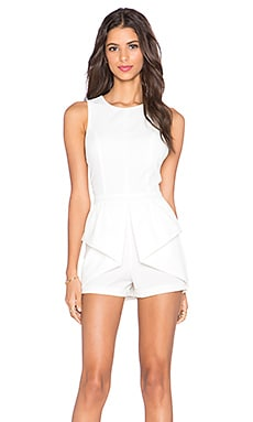 Pink Stitch Georgie Playsuit in White