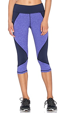 Pink Lotus Lotus Colorblock Capri Legging in Purple Haze