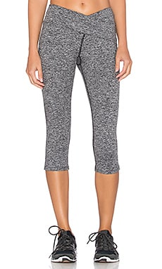 Pink Lotus Strength Wrap Front Legging in Heather Grey