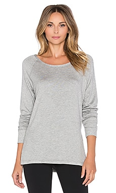 Pink Lotus Cut It Ombre Pullover in Heather Grey