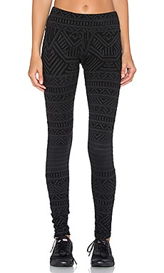 Pink Lotus Activate Legging in Charcoal