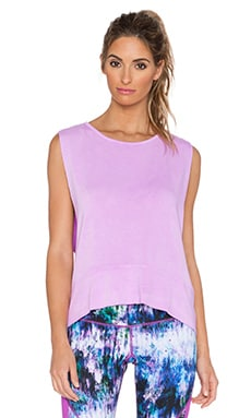 Pink Lotus Muscle Hi-Low Sweatshirt in Electric Orchid