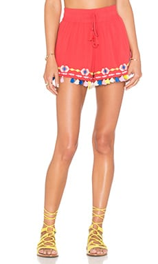 PIPER Java Pom Pom Short in Coral