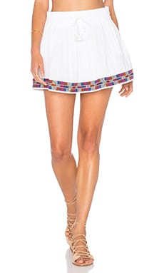 PIPER Xico Beaded Skirt in White