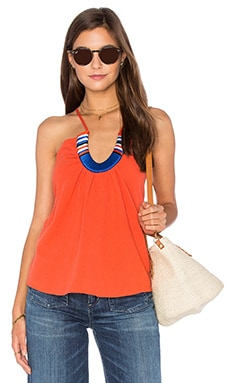 Saltillo Horse Shoe Top in Orange