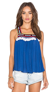 PIPER Bacoor Tassel Tank in Cobalt