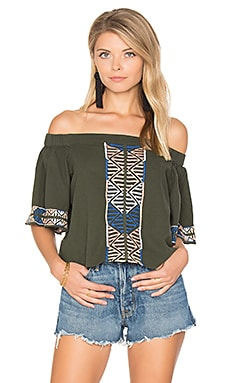 Bogo Off the Shoulder Top in Sage