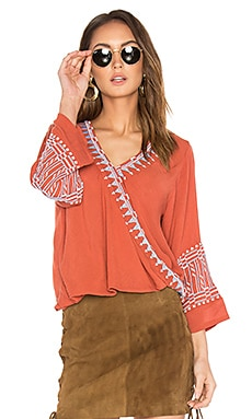 Butan Embroidered Top in Terracotta