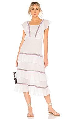 Купить Платье eve - Pitusa, Богемный стиль, Индия, Белый