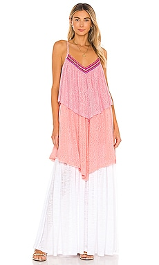 Three Tiered Maxi Dress Pitusa $195 NEW