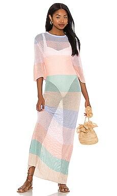 Rainbow Crochet Maxi Dress Pitusa $204