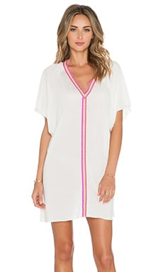 Pitusa Abaya Mini Dress in White