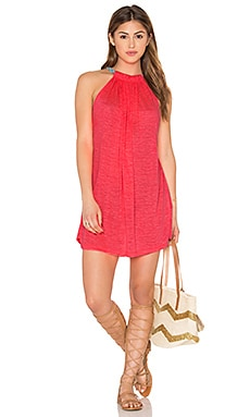 Pitusa Aegean Mini Dress in Hot Pink
