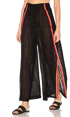 Pitusa Wrap Around Pant in Black