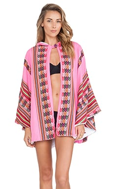 Inca Towel Cape in Hot Pink