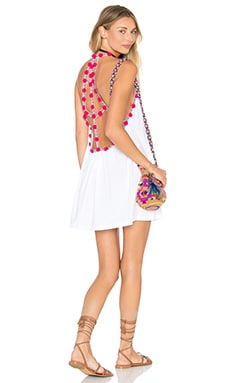 Pitusa Pom Pom Dress in White