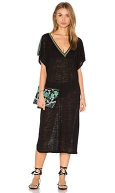 Pitusa V Back Dress in Black