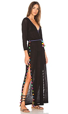 Купить Платье santorini - Pitusa, Длинные рукава, Перу, Черный