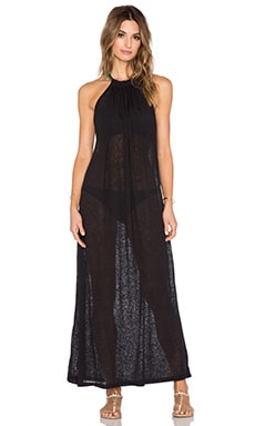 Pitusa Aegean Maxi Dress in Black