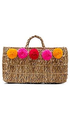 Pom Pom Straw Bag Pitusa $56