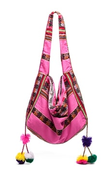 Pitusa Inca Beach Bag in Hot Pink