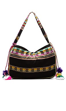 Inca Beach Bag in Schwarz