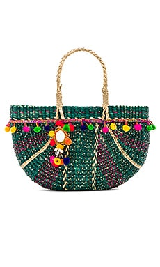 Half Moon Beach Bag in Green