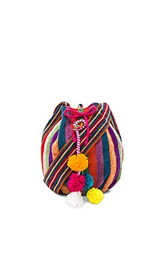 Inca Bucket Bag in Multi Raspberry