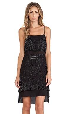 Parker Phillipa Sequin Dress in Black