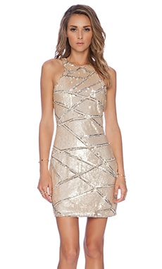 Parker Mariah Embellished Dress in Nude
