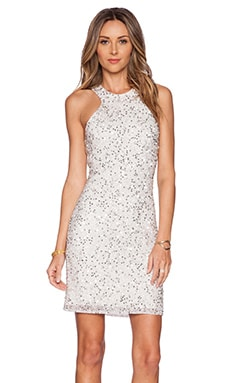 Parker Mariah Sequin Dress in Silver