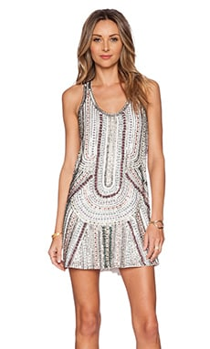 Parker Sequin Ramsey Dress in White