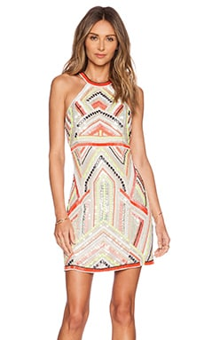 Parker Angelina Sequin Dress in Nude