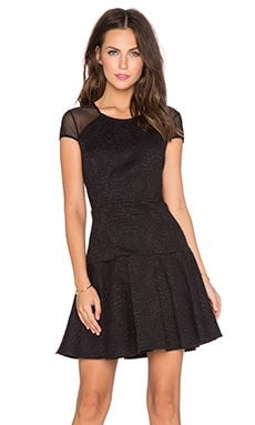 Twisp Combo Dress in Black