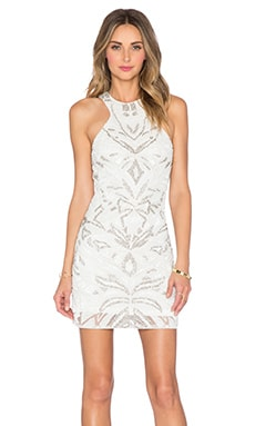 Parker Sequin Mariah Dress in White